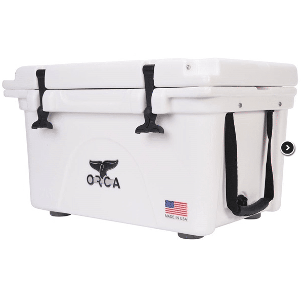 orca 26 qt cooler side